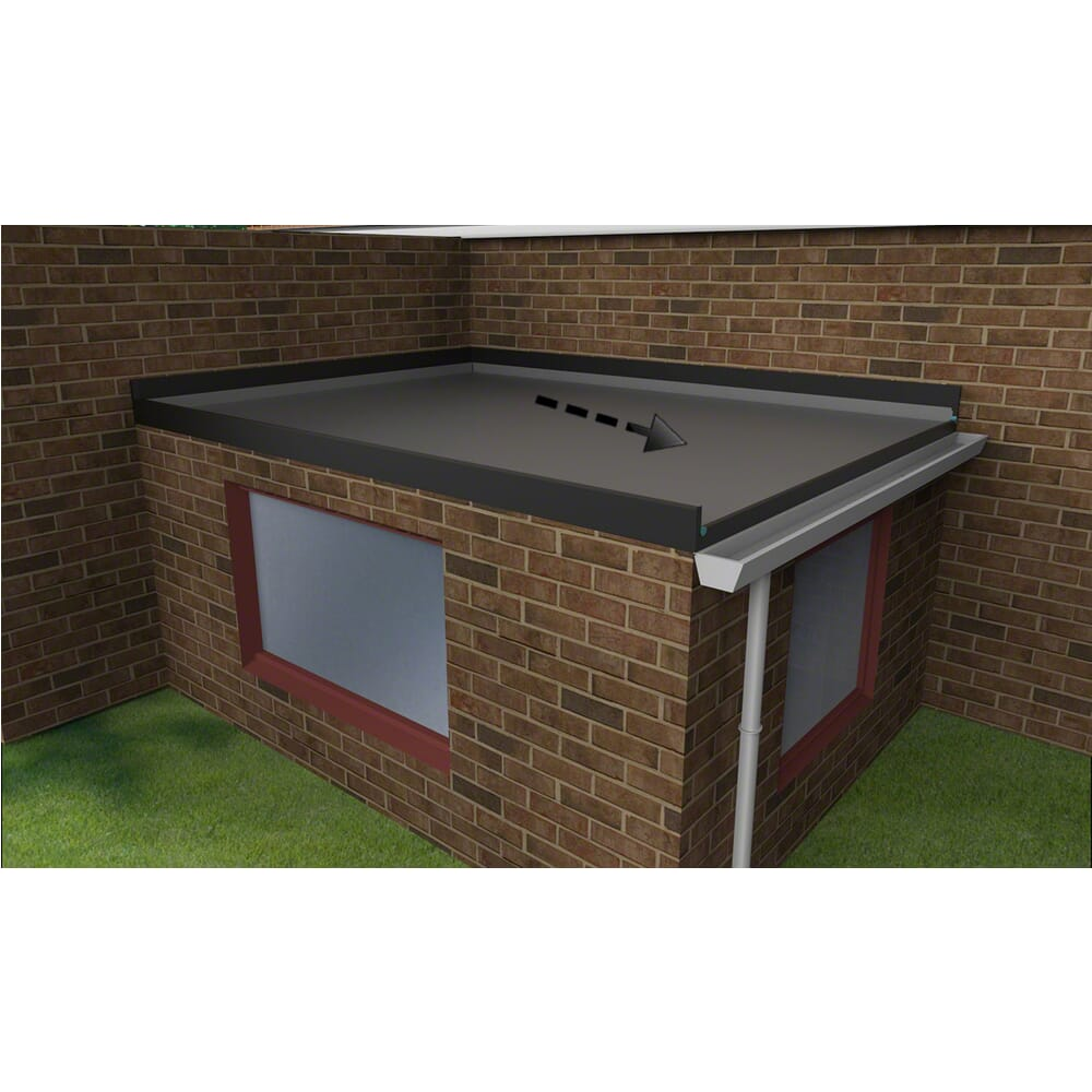 Epdm Flat Roof Extension Kit Falls To The Right With